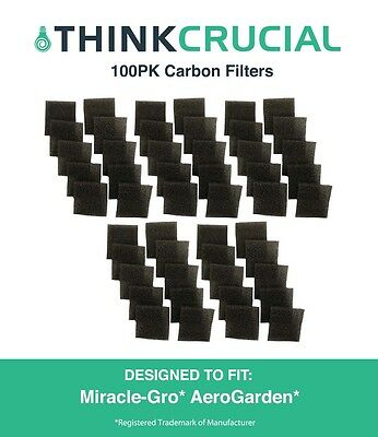 100PK Filters Fit Miracle-Gro AeroGarden Pumps