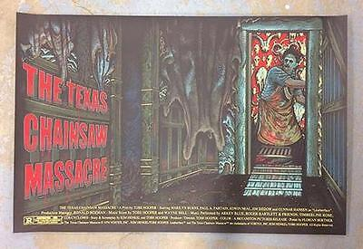 Texas Chainsaw Massacre Original Silkscreen Poster Movie Mondo Bertmer