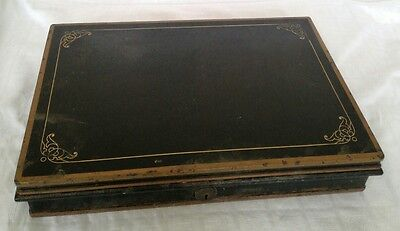 Interesting old heavy Metal Shallow Deed/Document Box