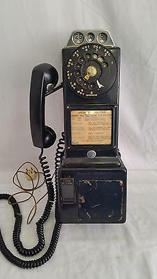 Vintage Automatic Electric Company 3 Coin Rotary Dial Pay Phone,Centel