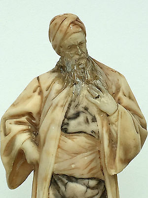 Orientalist Marble Figurine Nathan The Wise Signed Adolph Jahn Judaica 1800's