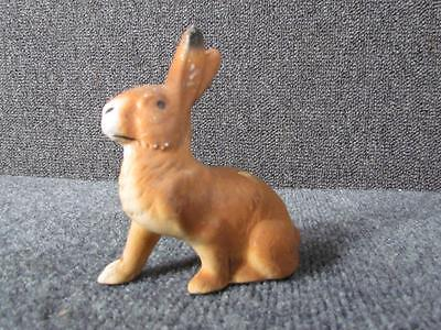 ANTIQUE 1930s AMERICAN COMPOSITION FIGURAL BUNNY RABBIT CANDY CONTAINER
