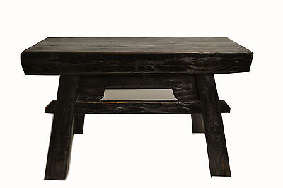 Asian Chinese Traditional  Solid Natural Wood Seat Sitting Stool .stand 17-417a