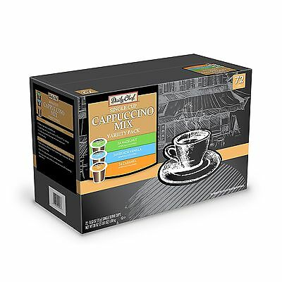 Daily Chef Cappuccino Mix Variety Pack (72 K-Cups)