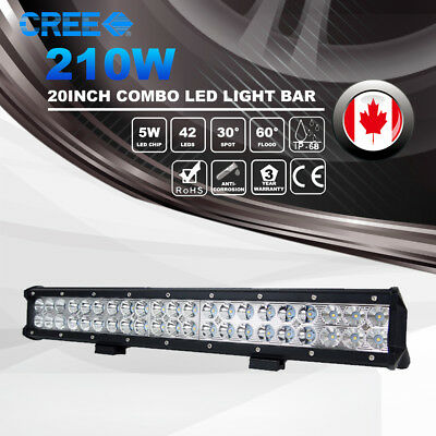 20Inch 210W CREE Led Light Bar Combo JEEP Ford Truck ATV Work Driving Lamps