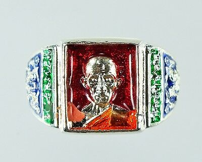 Very Holy Amulet Perfect Ring Phra Lp.ruay Wat Tako Powerful Wealth Rich Size*10