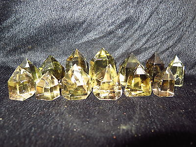 13 AAA NATURAL smoky CITRINE QUARTZ CRYSTAL POINT Healing 439g @j55