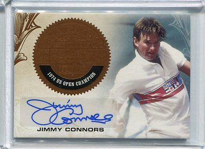 2015 Leaf Ultimate Tennis Jimmy Connors Big Finish Bronze Auto Autograph