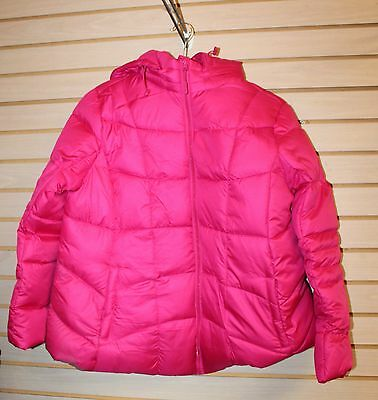 New Womens Pink Size Xl Extra Large 16 18 Maternity Hooded Puffer Jacket Coat