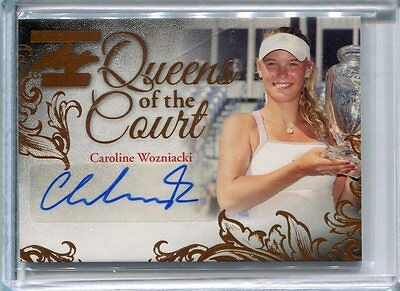2015 Leaf Ultimate Tennis Caroline Wozniacki Queens of the Court Bronze Auto