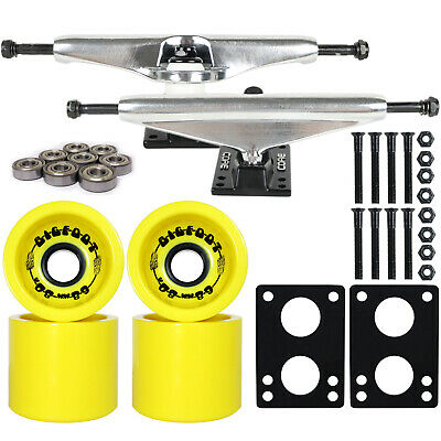 LONGBOARD TRUCKS PACKAGE BIGFOOT 68mm 80a FUNNEL WHEELS