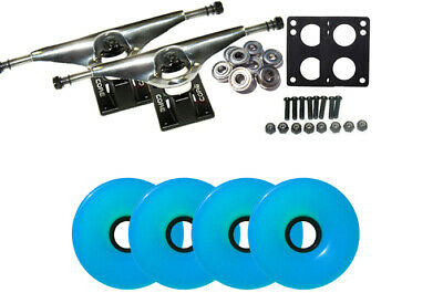 LONGBOARD Package CORE 7 in SILVER TRUCKS 70mm WHEELS