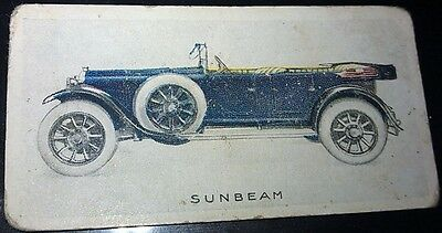 1923 SUNBEAM 20/60hp  Orig Wills Cigarette Card New Zealand