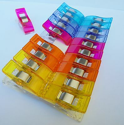 Clover - 20 Wonder Clips In Five Colours- Great Holding Capacity -  Free Postage
