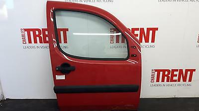 2007 FIAT DOBLO 2 Door Van Red O/S Drivers Right Front Door