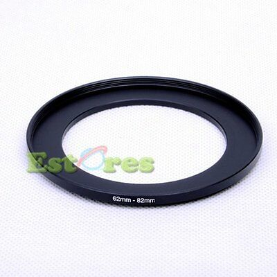 62mm-82mm 62-82 mm 62 to 82 Metal Step-Up Lens Filter Ring Adapter Black