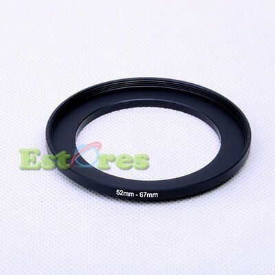 52mm-67mm 52-67mm 52 to 67 Metal Step-Up Camera Lens Filter Ring Adapter Black