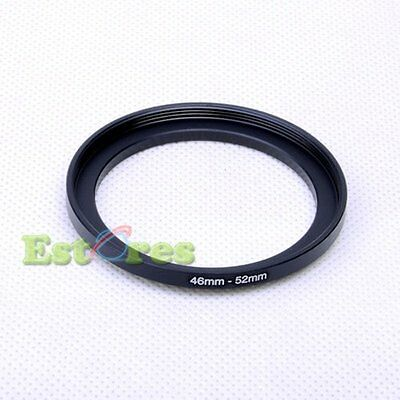 46mm-52mm 46-52 mm 46 to 52 Metal Step-Up Lens Filter Ring Adapter Black