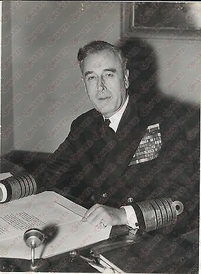 1958 LONDON The Admiral Lord Louis MOUNTBATTEN of Burma *Photo 15x20 cm