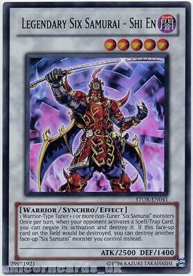 STOR-EN041 Legendary Six Samurai - Shi En Ultra Rare UNL Edition Mint YuGiOh Car