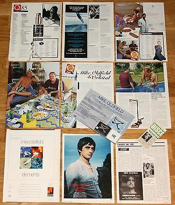 MIKE OLDFIELD clippings 1970s/1990s magazine articles photos