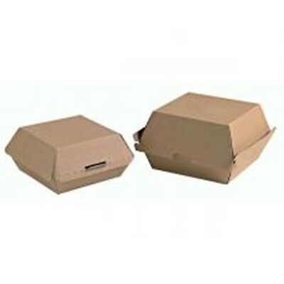 100 Burger Box clam ,Eviroboard  130mm (w) x 130mm (d) x 85mm (h), Great quality
