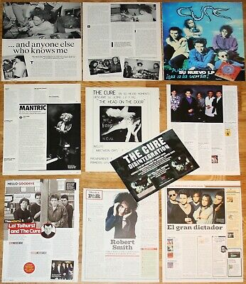THE CURE 1980s/00s clippings photos magazine articles Robert Smith