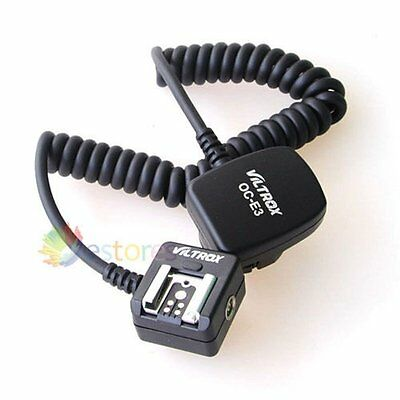 TTL Off Camera Hot Shoe Flash Sync Cable Cord For Canon OC-E3 430EX 580EX II