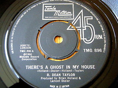 "R. Dean Taylor - There's A Ghost In My House  7"" Vinyl"