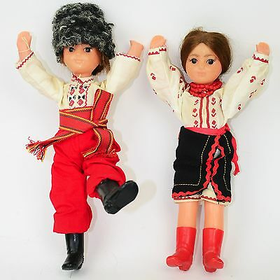 Lot Of 2 - Russian Oldtime Vintage Dancing Doll, Plastic, USSR, Czech 60's. 70's