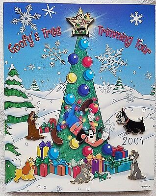 Rare 2001 Disney Christmastime In The City Event Lady & The Tramp Six Pin Set Le