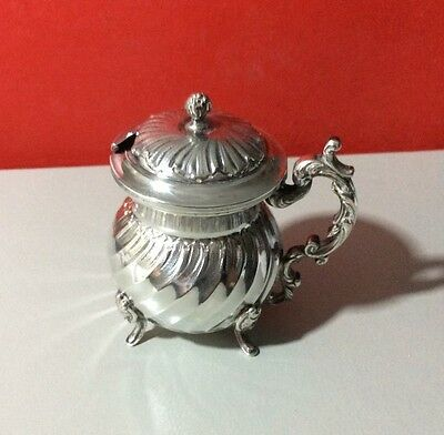 19th Century French Sterling Silver Muster Pot