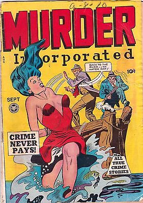 Murder Incorporated  # 5  1948  Golden Age Comic