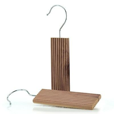 2 Cedar Wood Moth Repellent Coat Hanger Blocks & Odour Protection Hangerworld