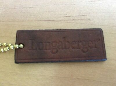 Longaberger Leather Hang Tag for a Purse- Large