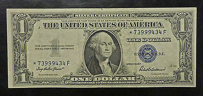 {BJSTAMPS} 1935 F $1 SILVER Certificate BLUE Seal STAR NOTE****