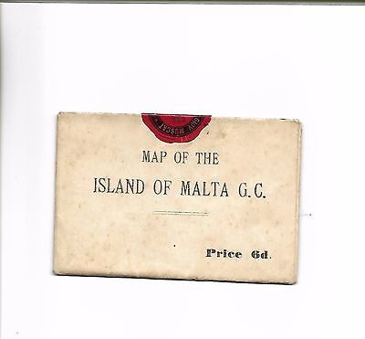 Vintage Map of the Island of Malta G.C. - price 6d