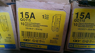 Square D QO115 circuit breaker 1p 15amp type QO New!