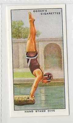 #50 hand stand dive swimming r card
