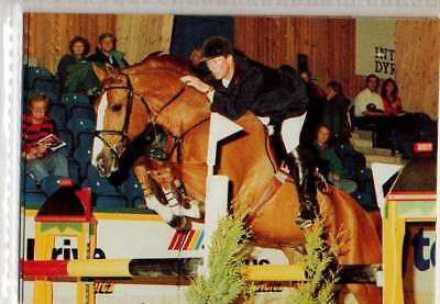 #52 Jos Lansink NED Jumping equestrian collector card