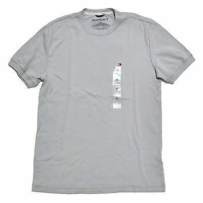 American T T-Shirt Mens Crew Neck Short Sleeve Tee Medium Grey Casual Cotton