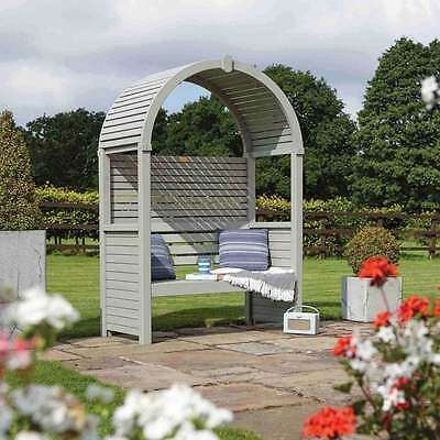Rowlinson Modena Garden Arbour Wood Timber Seat Bench
