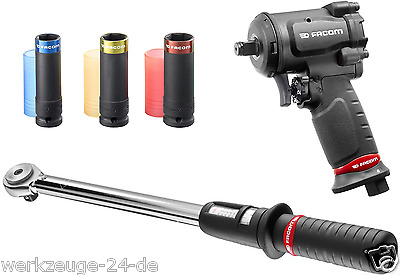 """FACOM 1/2"""" Mini compressed air-impact wrench Torque wrench Nut Set NS.1600F"""