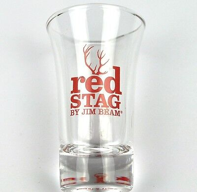 Jim Beam Red Stag USA Glas Stamper Stamperl Schnapsglas shot glass