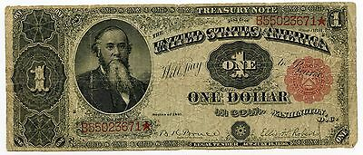 1891 $1 Treasury Note - Large Currency - One Dollar - AK817