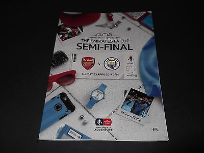 2017 Fa Cup Semi Final Arsenal V Man City *official Programme*