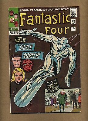 Fantastic Four 50 (Solid!) Silver Surfer battles Galactus; Kirby; 1966 (c#13719)