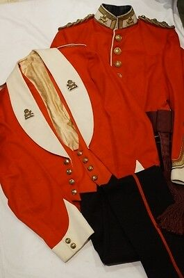 Pre WW1 British York Lancaster Regiment Named Scarlet Tunic and Mess Dress