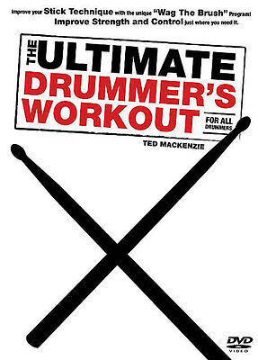 The Ultimate Drummer Workout with Brushes Drum Lessons Music Video DVD NEW