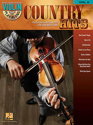 Country Hits Violin Play-Along Vol 9 Fiddle Sheet Music Songs Book CD Pack NEW